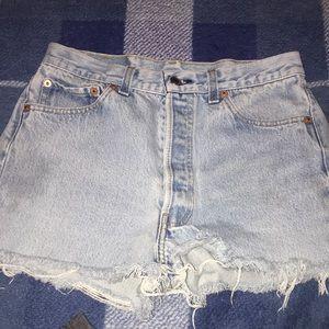 Vintage levi cut shorts